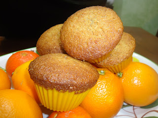 muffin all'arancia con farina integrale
