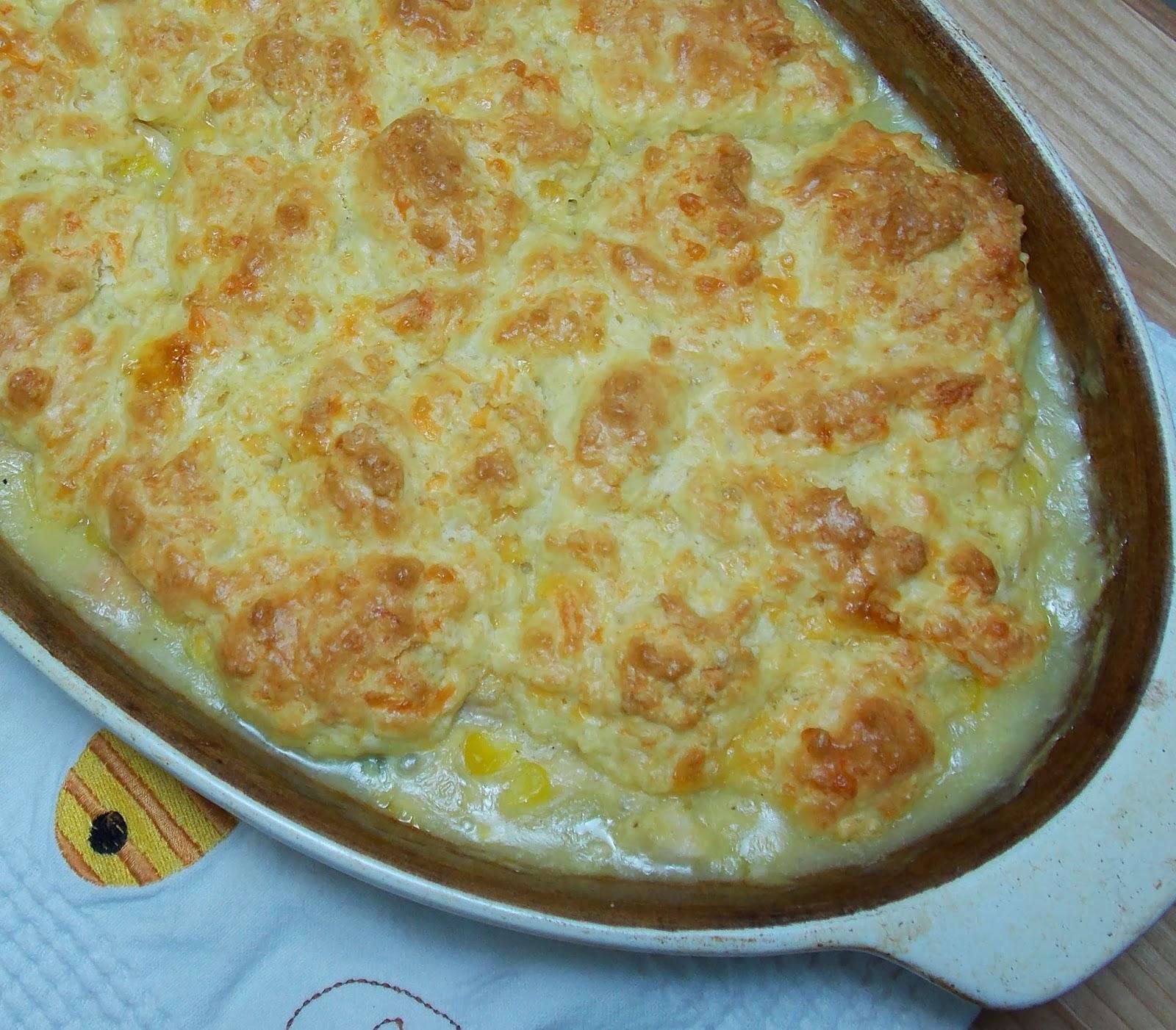 Turkey Potpie With Cheddar Biscuit Crust Recipe — Dishmaps