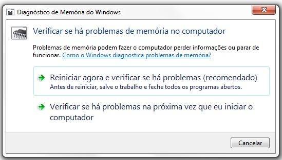 Verificando se há problemas de memória no computador - 549x313