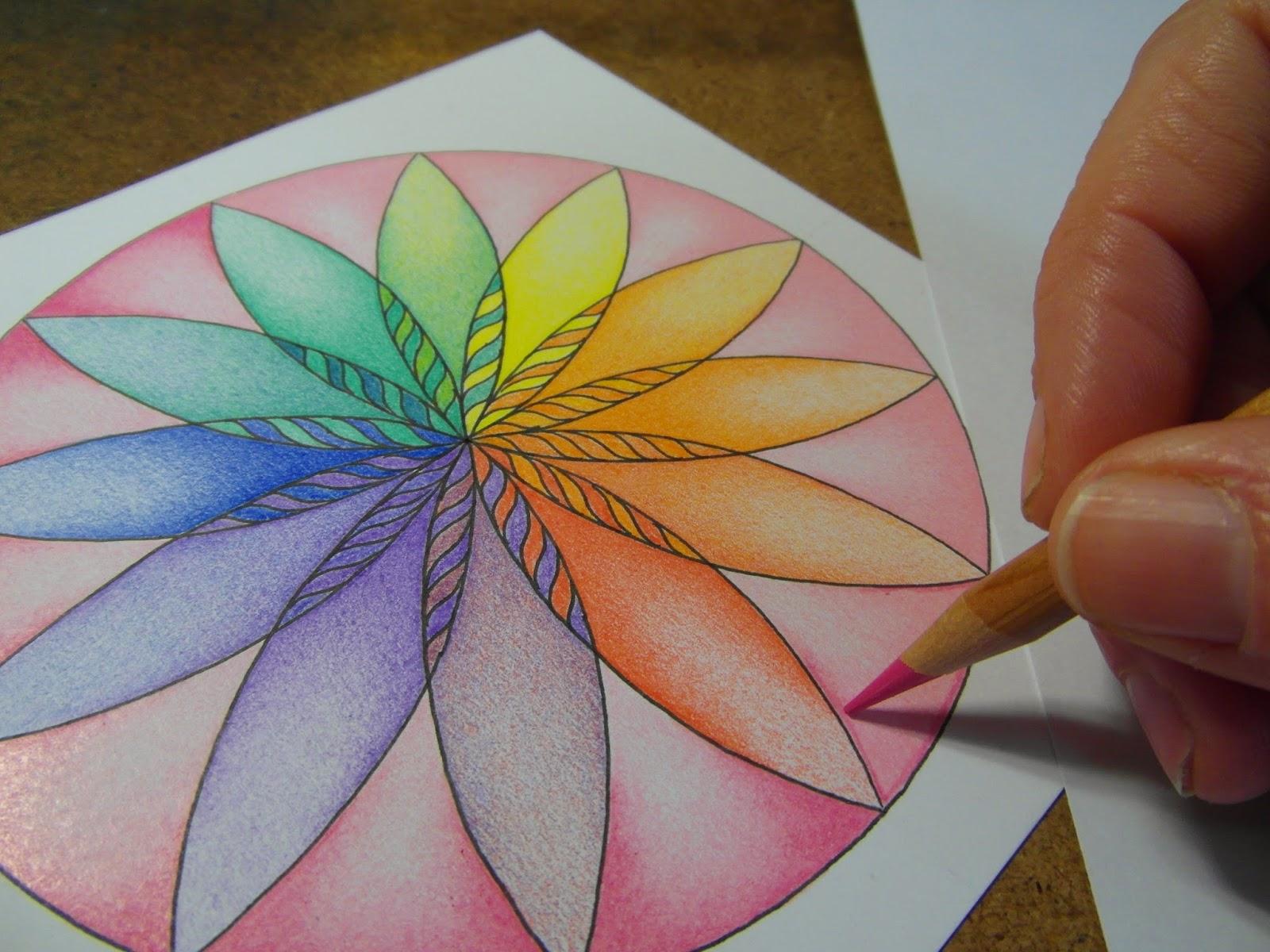 Mandala atelier inspiratie workshop 5 kleurenlotus - Hoe om kleuren te maken ...