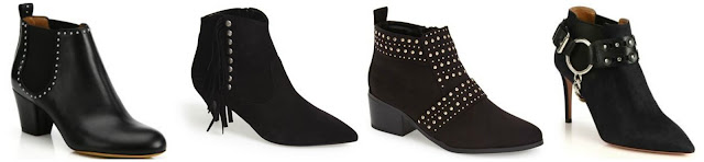 One of these pairs of black studded boots is from Topshop for $65 and the others are from designers for hundreds and even thousands of dollars. Can you guess which one is the more affordable pair? Click the links below to see if you are correct!