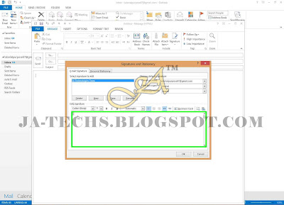 Auto Add Signature in MS Outlook Emails - Step 6