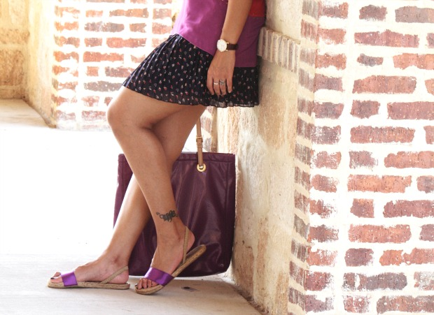 Colorblock top Oasap, Mango Skirt, Michael Kors, Crazy & Co., Tanvii.com