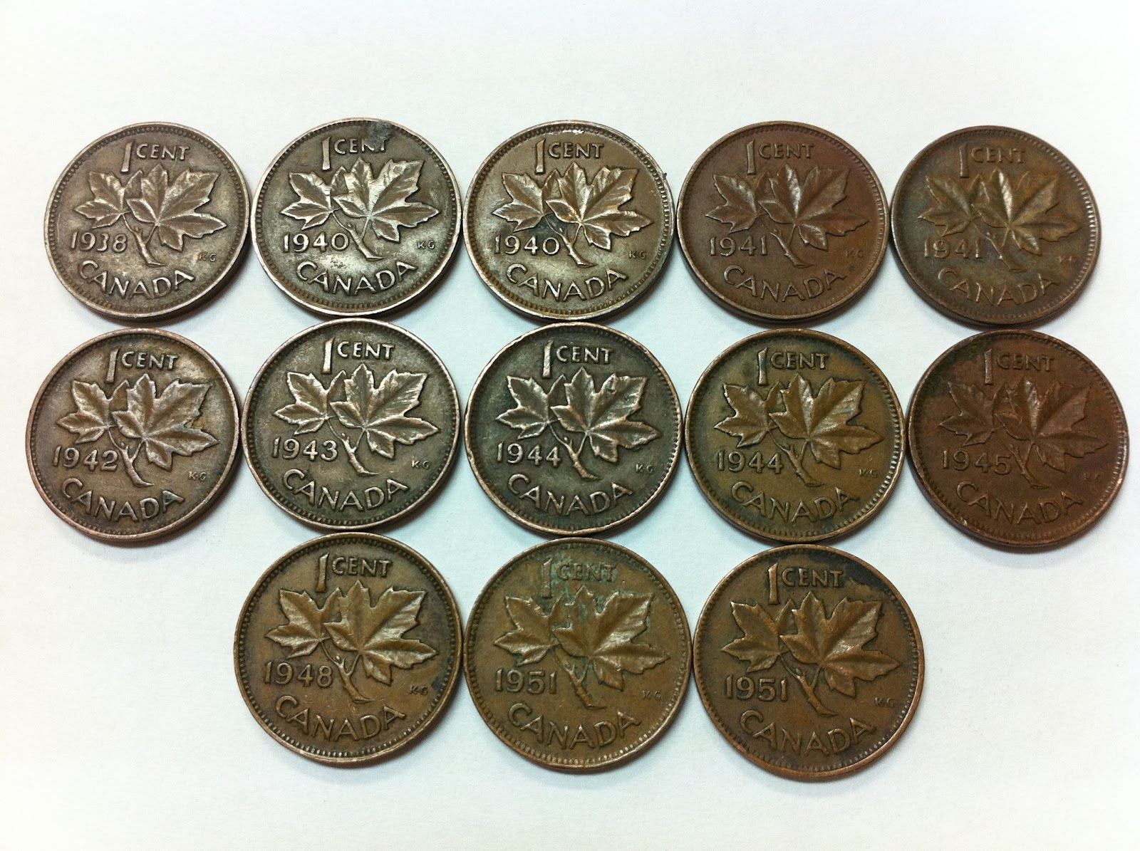 *** CANADA  1941  PENNIES  ROLL *** KING  GEORGES VI ***