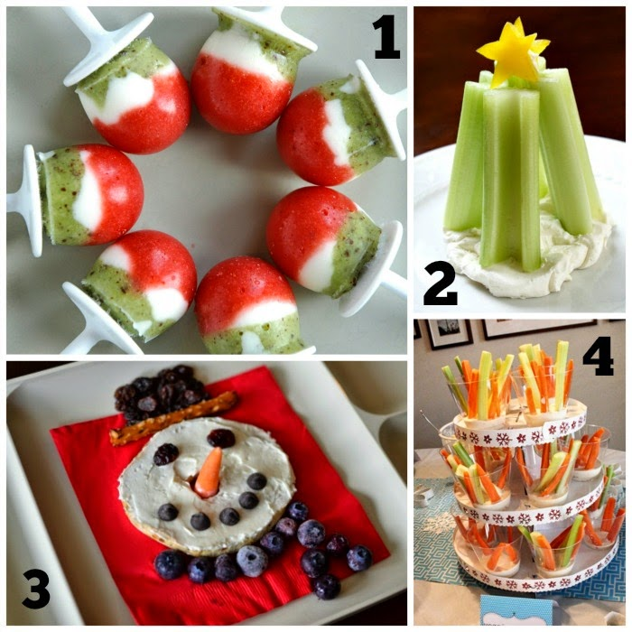 Healthy Holiday Snacks Collage 1