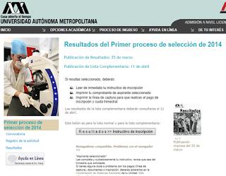 Resultados Primer exámen Proceso de Selección UAM 2013 Universidad Autónoma Metropolitana 25 de Marzo