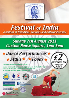Poster about Festival of India in Belfast, 2011