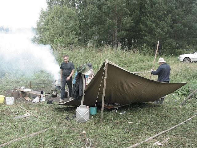 лагерь рыбаков