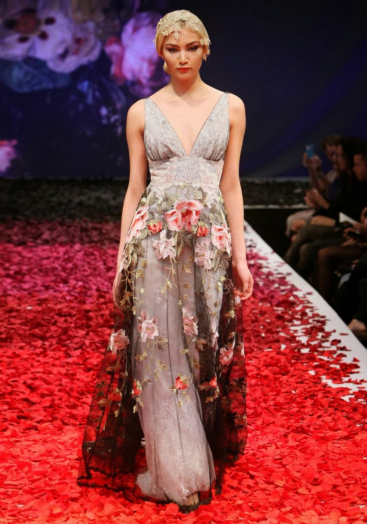 Raven Wedding Dress - Claire Pettibone
