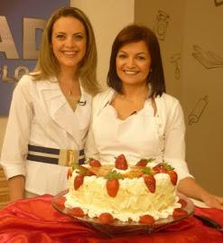 Eu e a apresentadora Deborah na estreia do programa EAD Tv Sec 21.