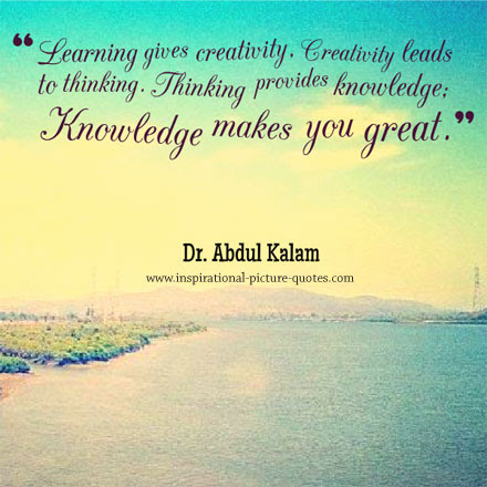 Abdul Kalam Knowledge Quote
