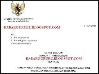 Surat Edaran Menaker Tentang Pembayaran THR & Himbauan Mudik Lebaran