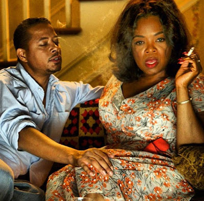 Terrence Howard and Oprah in The Butler