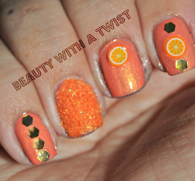 Both The Flocking Powder And Glitter Are From The Martha Stewart  Collection. I Found The Fimo Oranges At Bed, Bath And Beyond Of ...