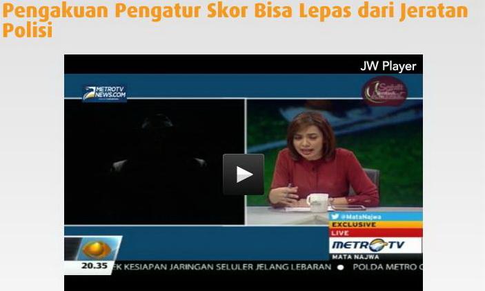 Mata Najwa Episode Buka-bukaan bola mafia judi pengatur skor bola