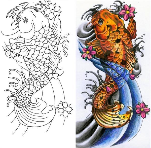 Tatuaes de pez koi completisimo fotos de tatuajes for Koi fish design