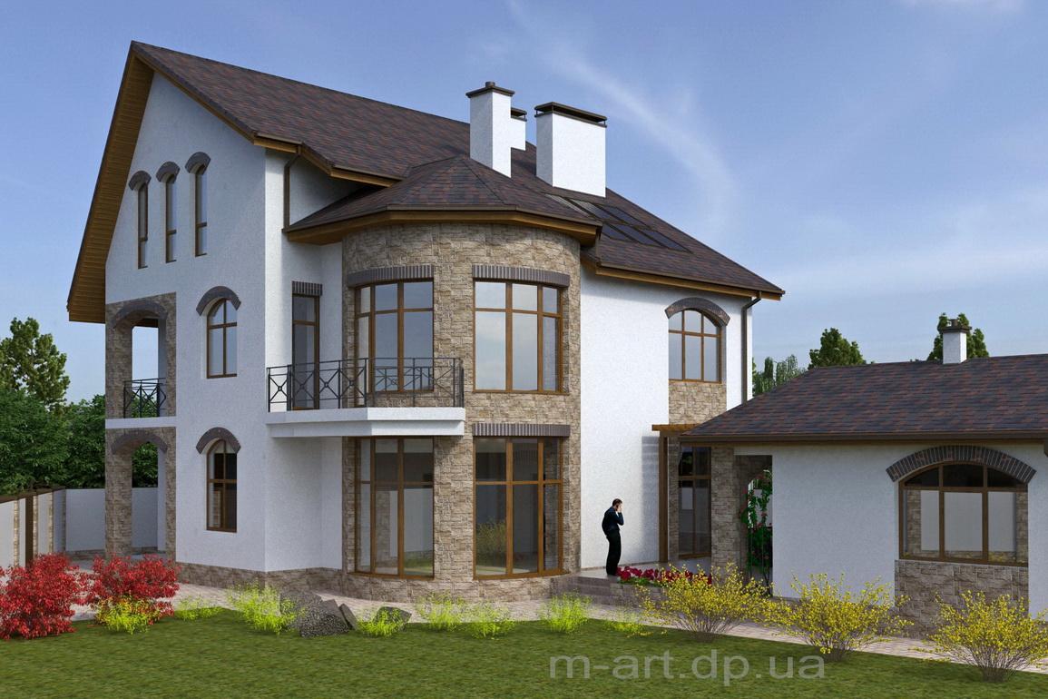 Сегодня в моде комбинированная отделка фасадов