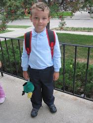 Sean's 1st day of kindergarten