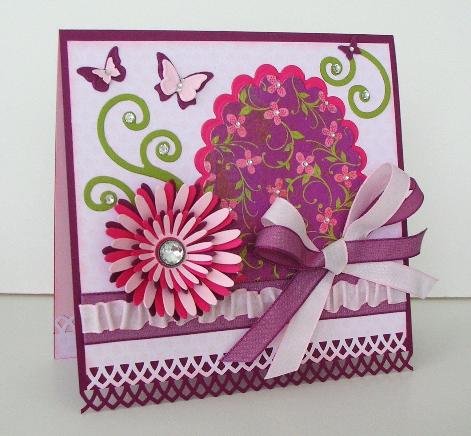 Crafting with Princess Lisa A 50th Birthday Card