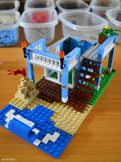 lego beach house - the ground floor