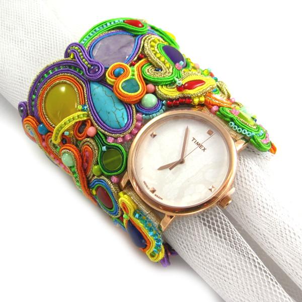 zegarek timex na bransoletce z sutaszu