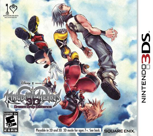3DS Kingdom Hearts 3D Dream Drop Distance Cover