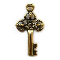 купить кулон в виде ключа из бронзы серебра модерн