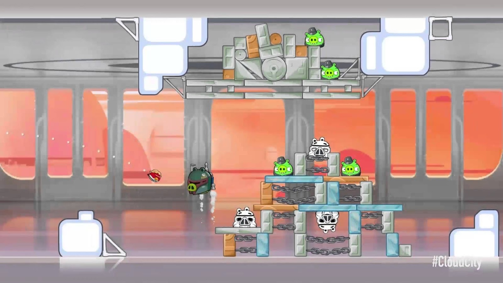 angry birds cloud city gameplay