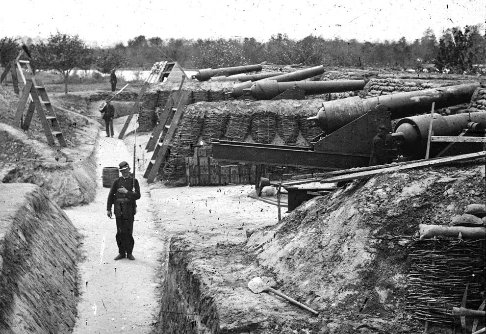 Fortificaciones en Yorktown, Virginia