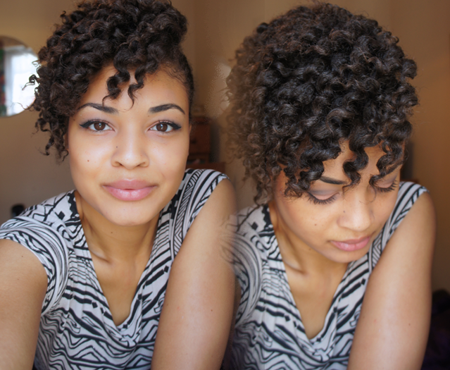 Natural Afro 4b 4c 3c hair flat twist out