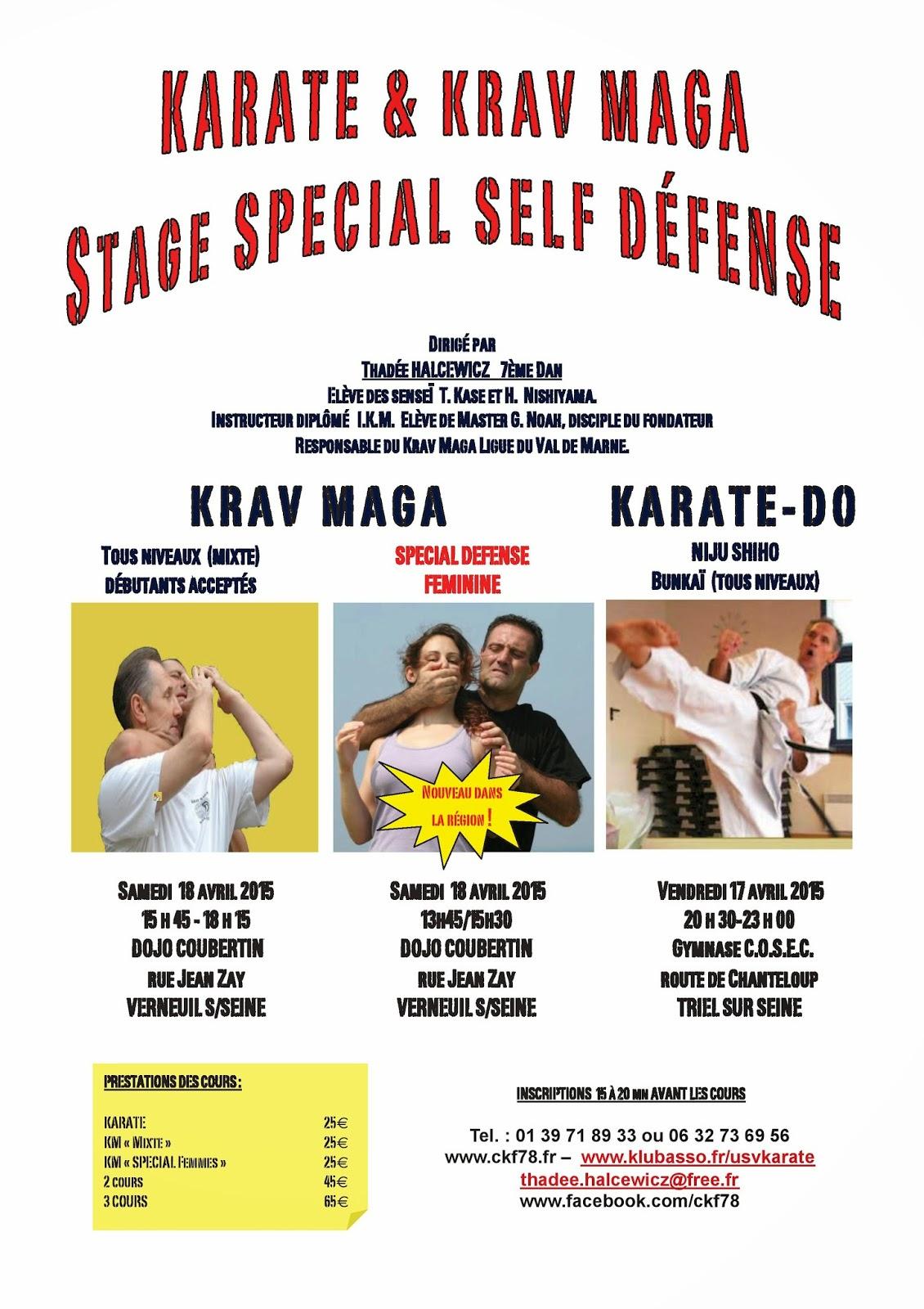 Stage Karaté Krav Maga et Self Défense Féminine