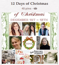 12 Days of Christmas special pin board
