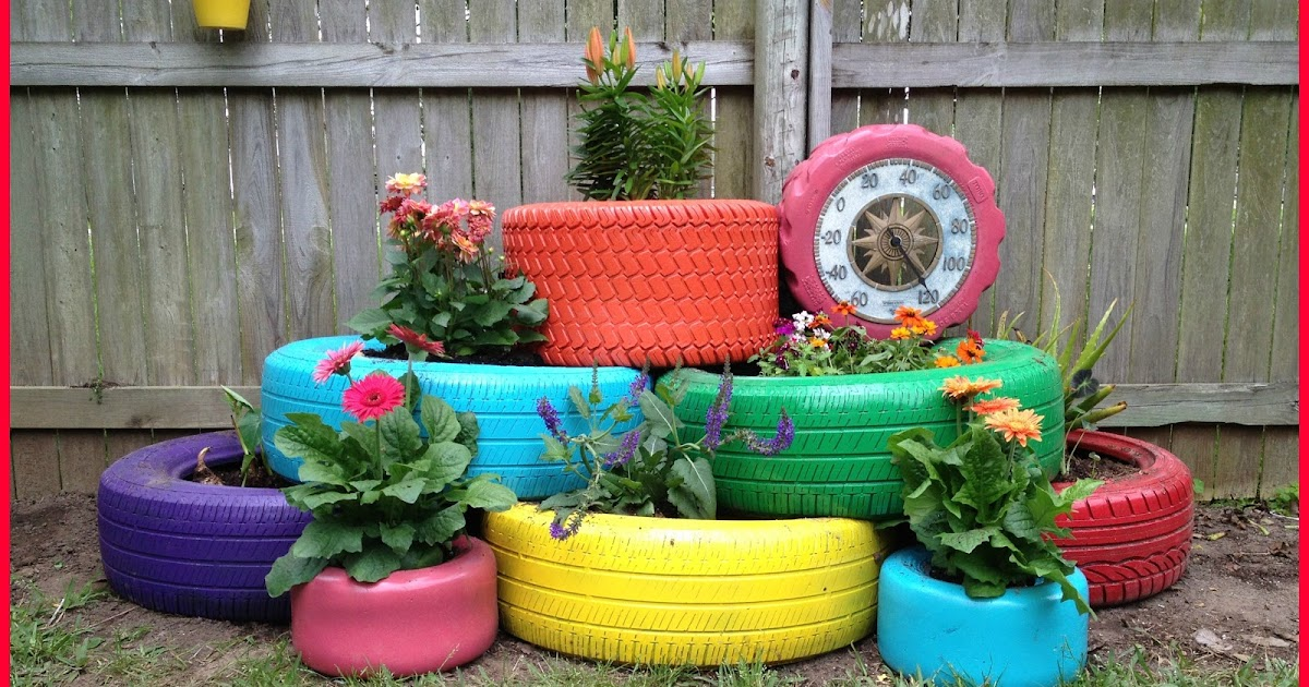 Recycle Tire Planter - Under $80.00
