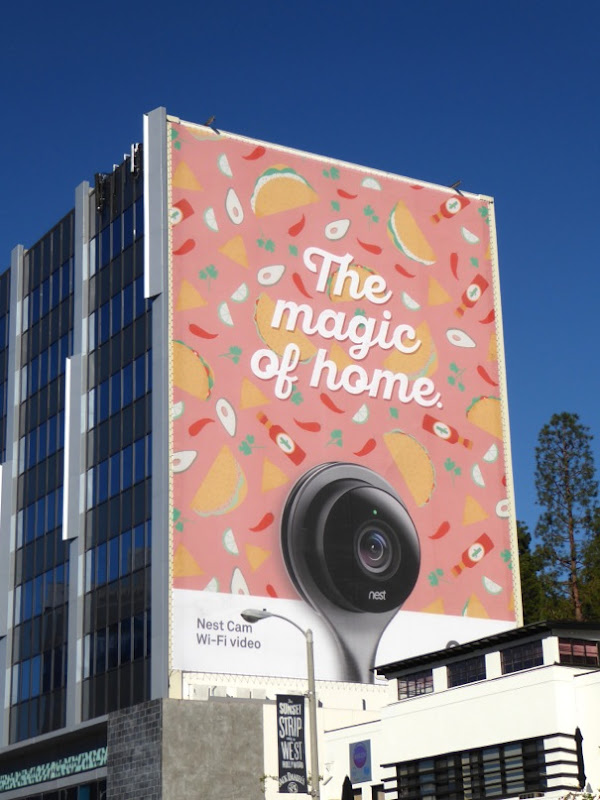 Giant Nest Cam The Magic of Home billboard