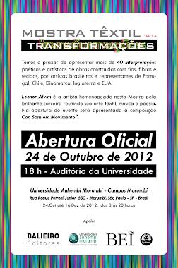 Mostra Textil 2012 Transformacoes