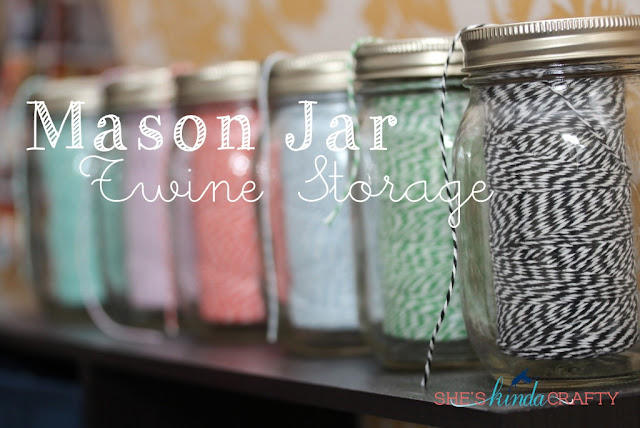 Mason Jar Twine Storage
