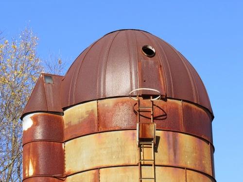 historic metal silo