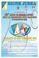25° anno di gemellaggio tra San Martino di Sarteano e Rione Judea