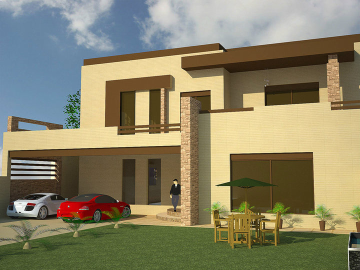3d front 1 kanal 2 kanal 3d house front elevation 12 - D home design front elevation ...