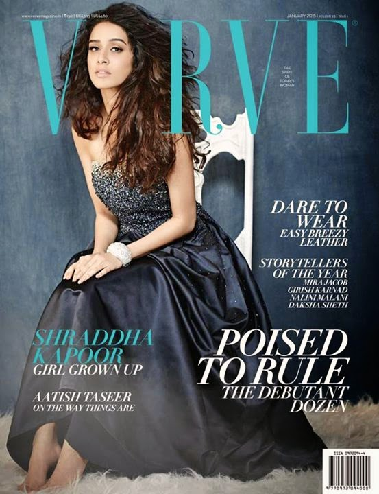 Shraddha Kapoor Graces VERVE Magazine India January 2015 Edition