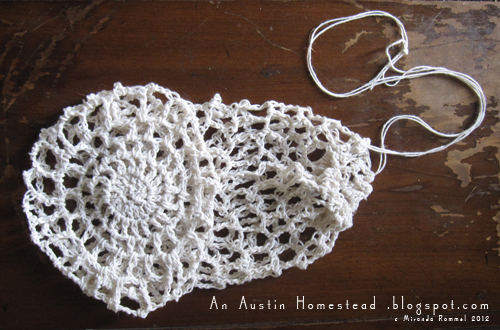 Easy Crochet Mesh Bag Pattern : An Austin Homestead: TUTORIAL: Crocheted Market Bags -Step 2
