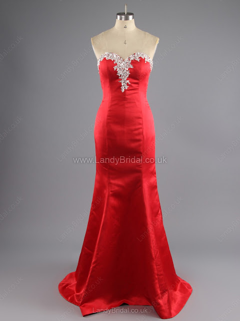 Trumpet/Mermaid Satin Sweetheart Sweep Train Beading Prom Dresses