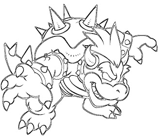 #5 Bowser Coloring Page