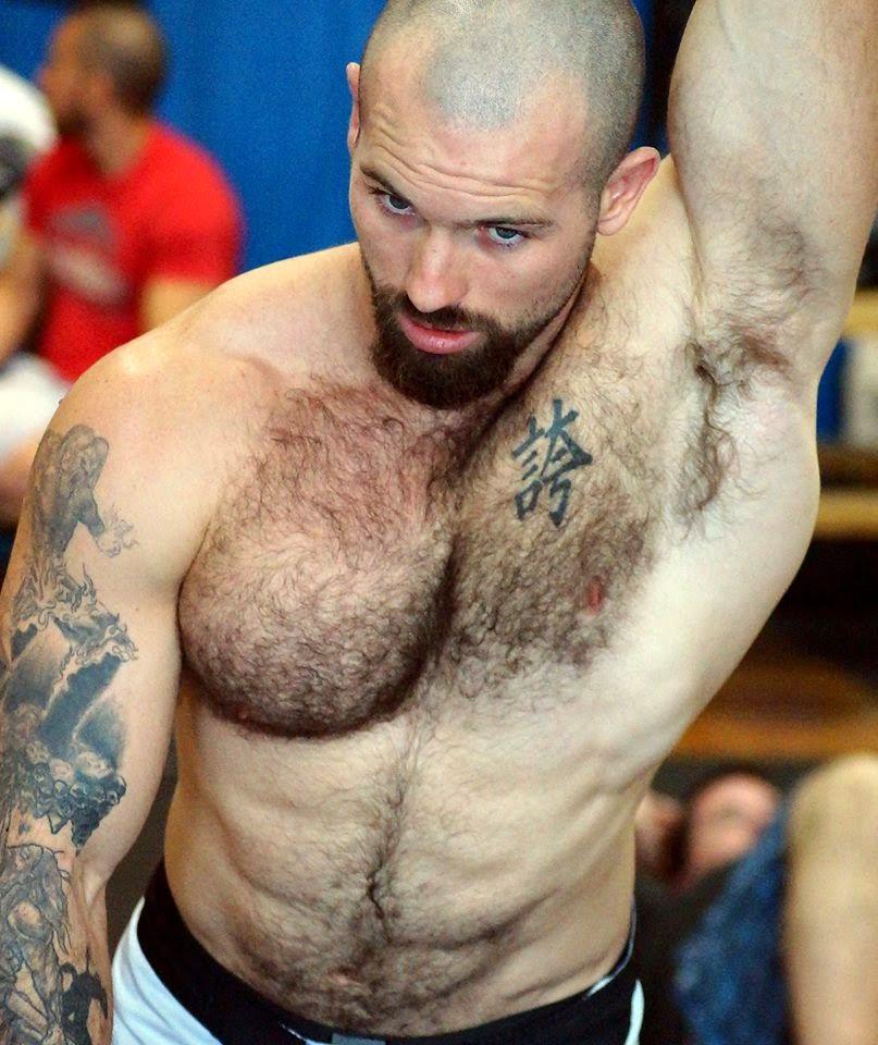 Muscular Jock's Hairy Armpits