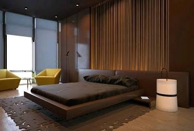 dormitorio paredes color marrón