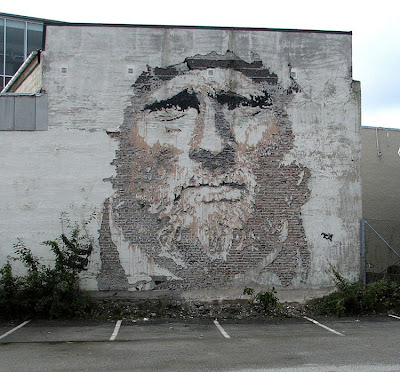 Chipped Wall Portraits By Vhils Seen On www.coolpicturegallery.us