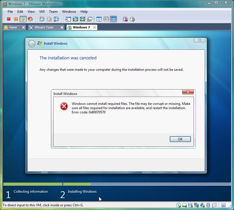 Mengatasi Error Code: 0x80070570
