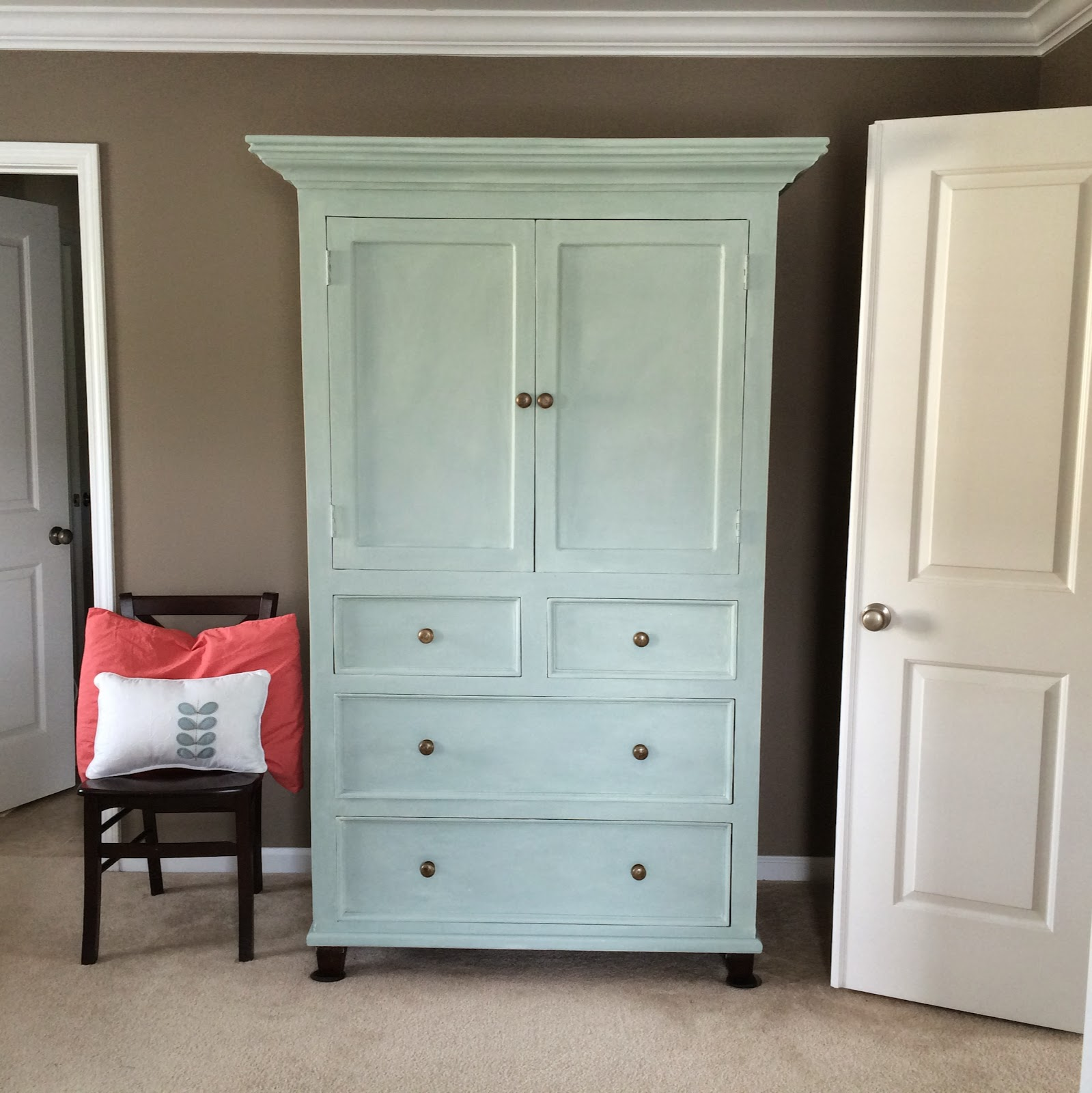 The Lowcountry Lady: Armoire Painted With Annie Sloan Chalk Paint® In . Full resolution‎  portrait, nominally Width 1600 Height 1600 pixels, portrait with #953637.