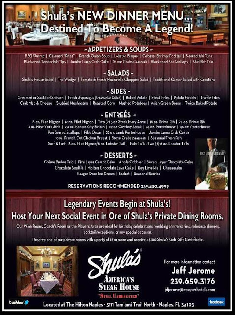 Hilton Naples Hotel, Shula's Steakhouse