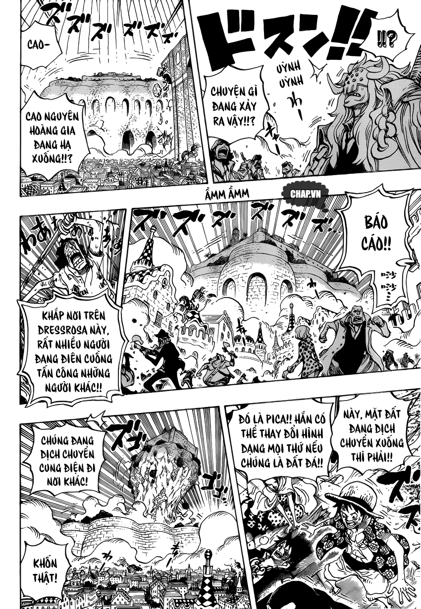 One Piece Chapter 745: Lồng chim 015